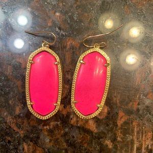Kendra Scott Jewelry - Kendra Scott neon pink Elle earrings